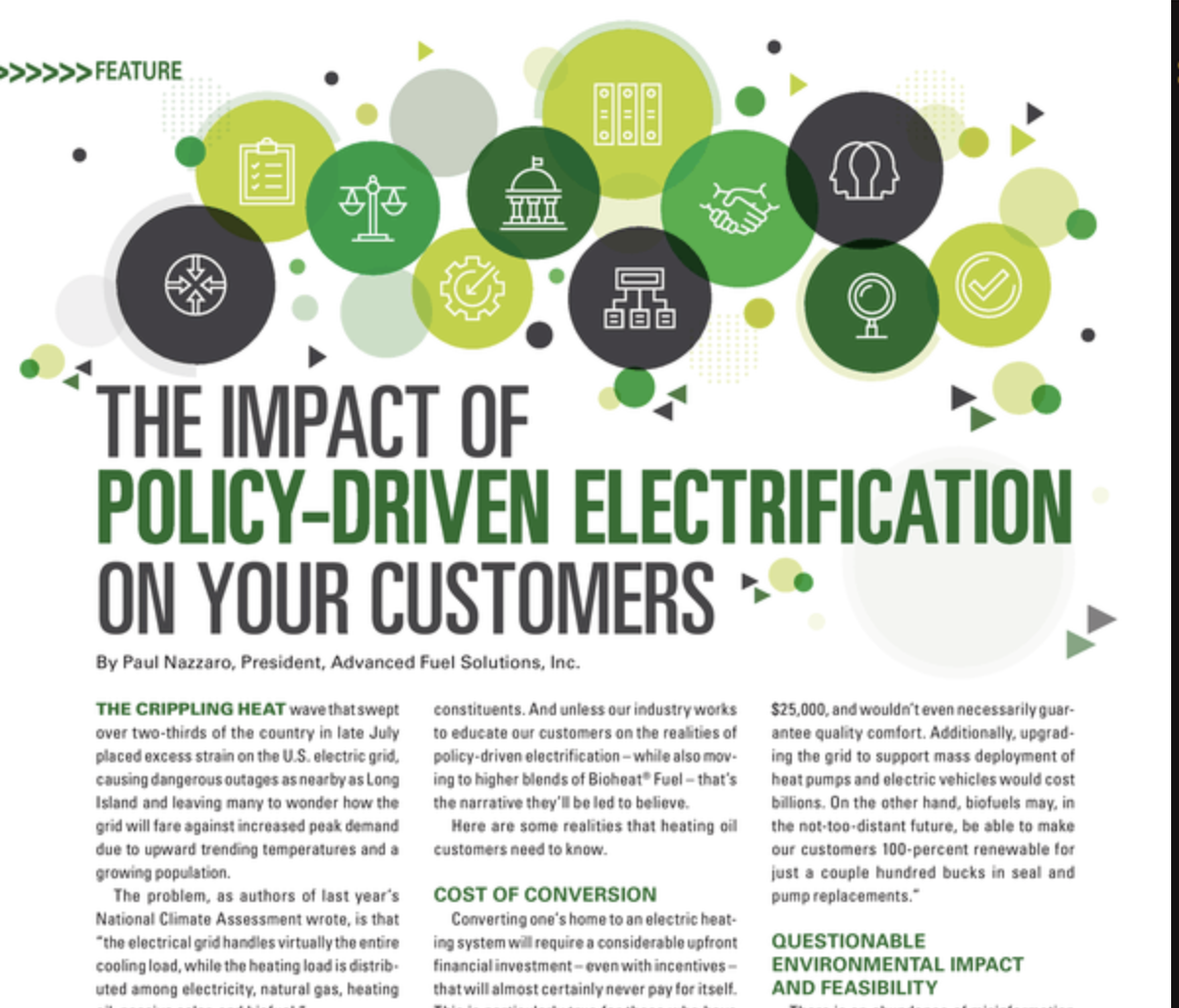 Impact of Policy-Driven Electrification